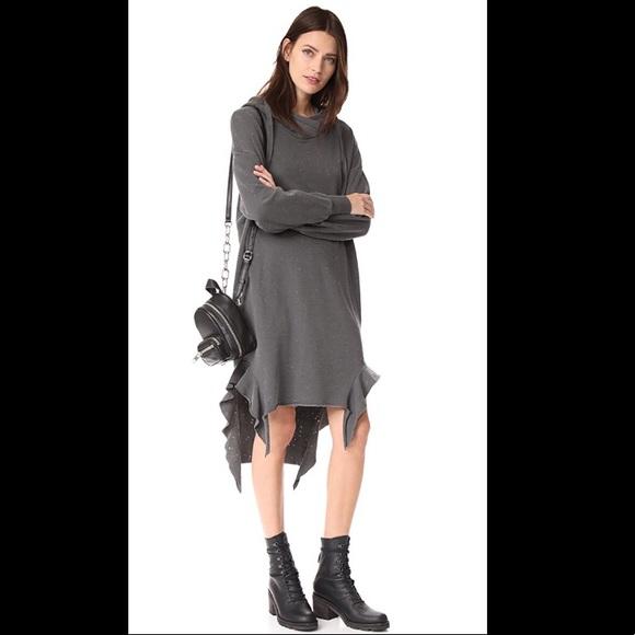 NSF Dresses & Skirts - NSF Wren Sweatshirt Dress in Burgundy
